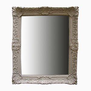 Antiker französischer pastellfarbener Spiegel