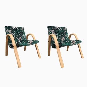 Bow Wood Armchairs from Steiner, 1949, Set of 2