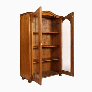19th-Century Biedermeier Bookcase Cabinet
