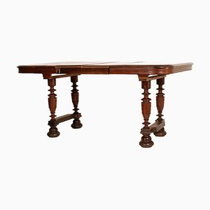 19th-Century Solid Oak Provencal Extendable Table