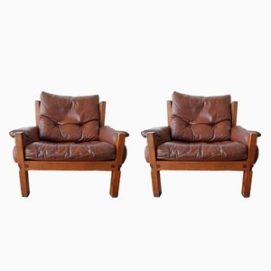 Vintage S15 Armchairs by Pierre Chapo, 1980s, Set of 2