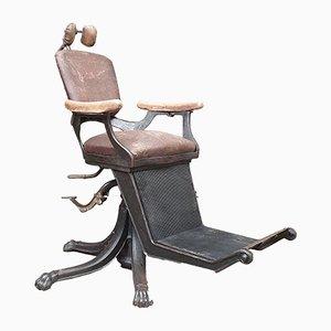 Chaise de Barbier en Fonte et en Moleskine, 1880s