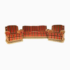 Juego de sofá y butacas, años 60