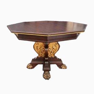 Tavolo in stile rinascimentale in legno di noce, XIX secolo