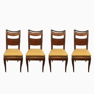 Antike Beistellstühle aus Ahorn, 1800er, 4er Set