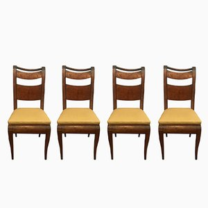 Antique Maple Side Chairs, 1800s, Set of 4