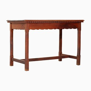Austrian Solid Walnut Art Nouveau Table from Wiener Werkstätte, 1900s