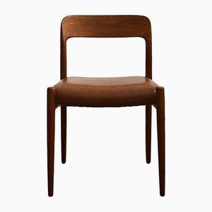 Mid-Century Danish Model 75 Chair by Niels O. Møller for J.L. Møllers