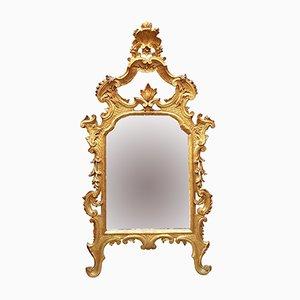 Antique Golden Wood Mirror