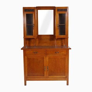 19th Century Art Nouveau Cherrywood Cabinet