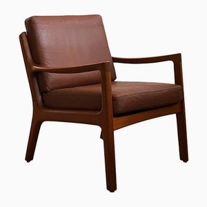 Mid-Century Danish Teak Senator Armchair by Ole Wanscher for France & Son