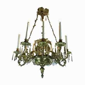 Antique Golden Bronze Chandelier