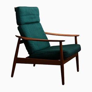 Dänischer Mid-Century FD 164 Sessel mit Gestell aus Teak von Arne Vodder für France & Son