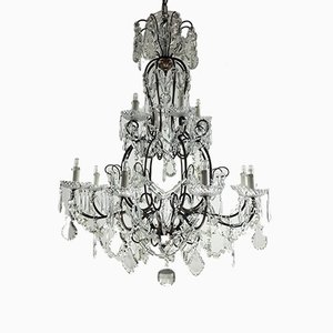 Antique 12-Light Crystal Chandelier