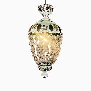 Dekorativer Kronleuchter aus Glas & Kristallglas, 1950er