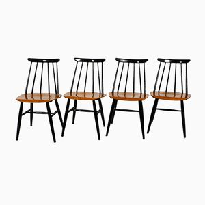 Finnish Fanett Chairs by Ilmari Tapiovaara for Asko, 1960s, Set of 4