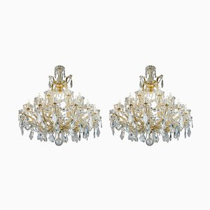 Maria Teresa Crystal Chandeliers, 1950s, Set of 2