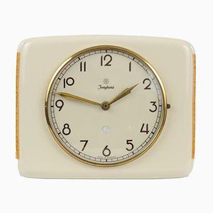 Vintage German Ceramic Clock from Junghans, 1940s