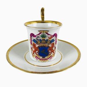 Tasse und Untertasse aus Porzellan von KPM Berlin, 1847