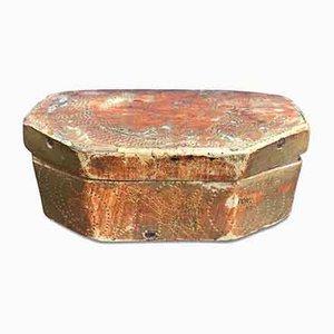 Scatola antica dorata