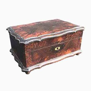 Antique Wooden Jewelry Box, 1800s