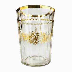 Bicchiere antico bomeo dorato, metà XVIII secolo
