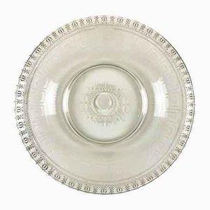 Assiette Circulaire en Verre Gravé, 1800s
