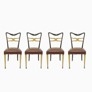 Mid-Century Dining Chairs by Melchiorre Bega for Ponti, 1950s, Set of 4