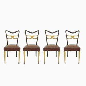 Mid-Century Esszimmerstühle von Melchiorre Bega für Ponti, 1950er, 4er Set
