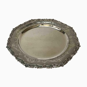 Vintage Italian Silver Serving Tray, 1950s