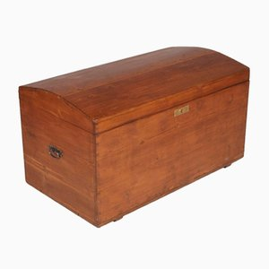 Antique Solid Pine Traveling Trunk