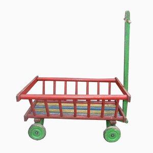 Vintage Wooden Trolley, 1970s