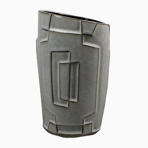 Mid-Century Vase in Schwarz & Weiß von Jaap Ravelli, 1950er