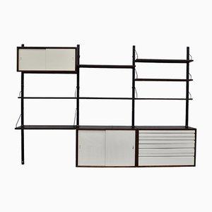 Libreria modulare Mid-Century in wengé di Poul Cadovius per Cado