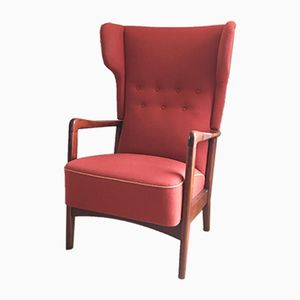 Highback Armchair from Fritz Hansen, 1950s