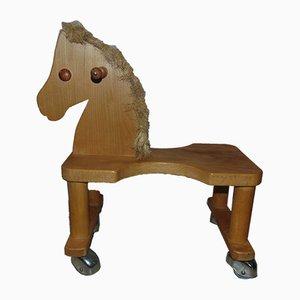 Toy Horse auf Rollen von Drexler Fasser, 1980er