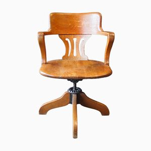 Boston and New York Swivel Chair with Adjustable Backrest from Derby & Co., 1910