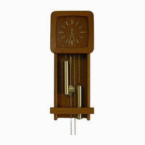 Reloj de pared de teca de Danclock, años 70