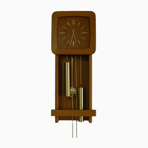 Teak Wall Clock from Danclock, 1970s