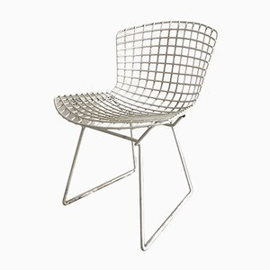 Chaise Vintage Blanche par Harry Bertoia pour Knoll International, 1950s