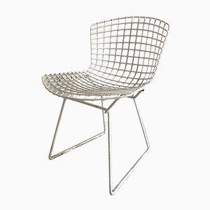 Weißer Vintage Stuhl von Harry Bertoia für Knoll International, 1950er