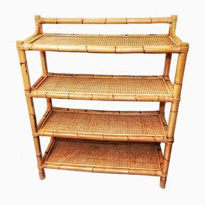 Estantes vintage de bambú