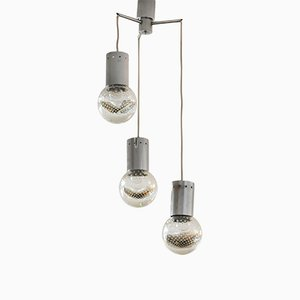 Vintage Deckenlampe aus Muranoglas mit 3 Leuchten von Seguso