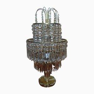 Tischlampe aus Glas von Jablonecke Sklarny, 1970er