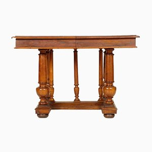 19th-Century French Walnut Extendable Table