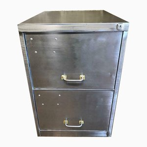 Vintage Industrial 2-Drawer Metal Filing Cabinet, 1970s
