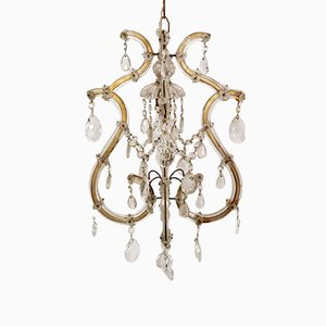 Lámpara de araña de cristal de Murano de Salviati, años 10