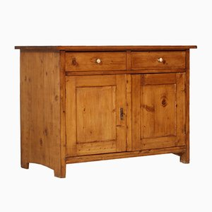 Antique Tyrolese Solid Pine Sideboard, 1800s
