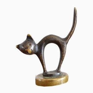 Tappo Mid-Century a forma di gatto in ottone di Walter Bosse & Hertha Baller, anni '60