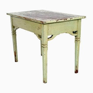 Small 19th-Century Italian Painted Pine Desk